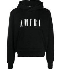 core logo graphic hoodie, black