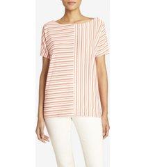 jones new york women's striped dolman sleeve tee