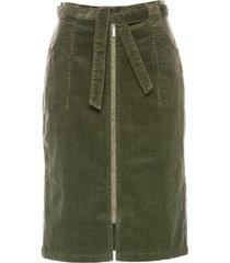 gonna in velluto con cintura (verde) - bpc selection