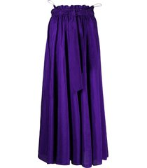 forte forte belted maxi skirt - purple