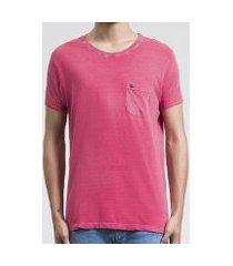 camiseta salt 35g pocket pink masculina