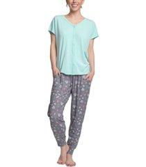 cool girl t-shirt & printed pants pajama set