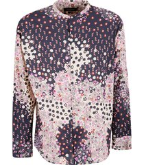 dsquared2 round collar abstract print shirt