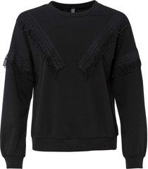 sweatshirt med fransar