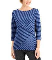 karen scott abstract-stripe top, created for macy's