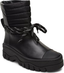 biker shoes boots ankle boots ankle boot - flat svart ganni