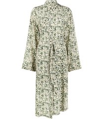 nanushka mona asymmetric belted dress - green