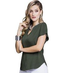 blusa adulto femenino verde militar marketing  personal