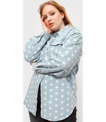chaqueta missguided celeste - calce oversize