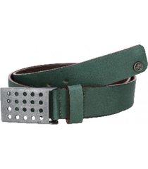 cinturón cuero liso borde pintado verde panama jack