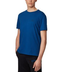 boss men's tee curved open blue t-shirt
