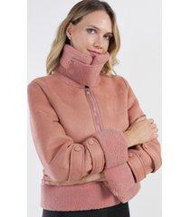 chaqueta gamuza diadora rosado night concept