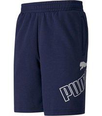 pantaloneta azul puma 9  classic logo hombre