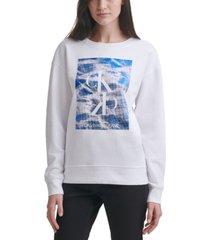calvin klein jeans reflecting pool logo sweatshirt