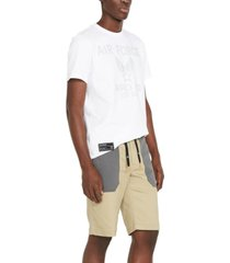 avirex men's regular-fit stretch flight shorts