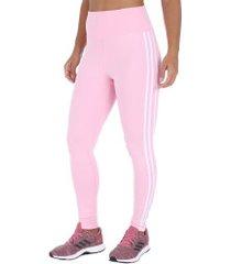 calça legging adidas d2m 3s hr lt - feminina - rosa