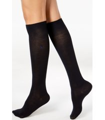 polo ralph lauren solid knee-high socks