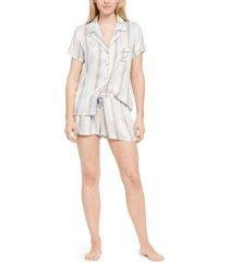 splendid striped shirt & shorts pajama set