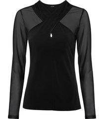 maglia a maniche lunghe con mesh (nero) - bodyflirt