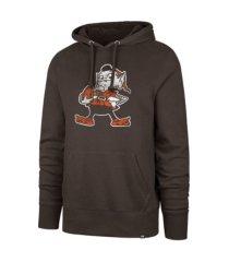 '47 brand cleveland browns men's throwback headline hoodie