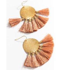 sonya tassel drop earrings - mauve