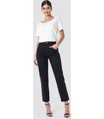 na-kd trend front yoke jeans - black