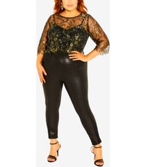 plus size stunning lace short sleeve top