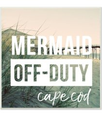 "stupell industries mermaid off duty cape cod wall plaque art, 12"" x 12"""