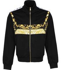 versace techno fabric full-zip sweatshirt
