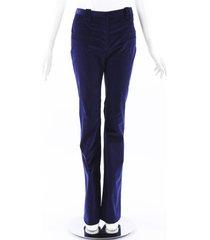 altuzarra blue corduroy flared pants blue sz: xs