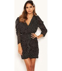 ax paris women's chiffon polka dot dress