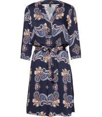 dresses light woven knälång klänning blå esprit collection
