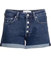 mid rise short rolled shorts denim shorts blå calvin klein jeans