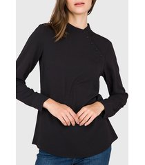 blusa  ash lisa mao negro - calce regular