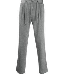 corneliani drawstring jersey trousers - grey