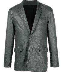 zadig & voltaire valfried crinkle blazer - grey