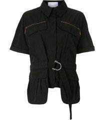 andrea bogosian susie belted shirt - black