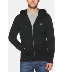 original penguin men's zip-front fleece hoodie