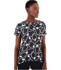 camiseta farm rio sublimada maxi caju - feminina - preto