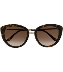 cartier eyewear ct0247s cat-eye sunglasses - brown