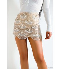 akira house of pearls mini skirt