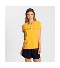 blusa rovitex t-shirt amarelo