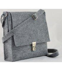 torebka filcowa z klamrą- listonoszka minimalizm