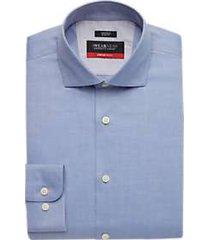 awearness kenneth cole awear-tech blue slim fit dress shirt