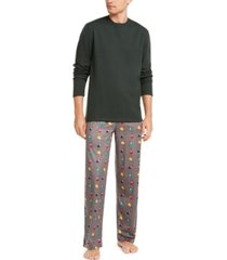 club room men's printed pajama set, created for macy's