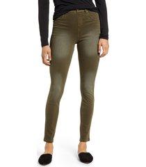 plus size women's hue az ultrasoft denim leggings, size 1 x - green