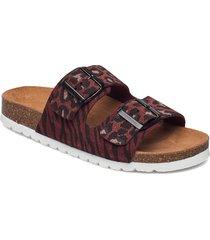 vmalda leather sandal shoes summer shoes flat sandals brun vero moda