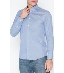 selected homme slhslimnew-mark shirt ls b noos skjortor blå