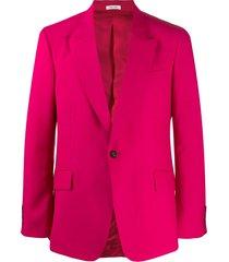 alexander mcqueen fitted button blazer - pink