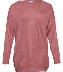 carkath l/s pullover knt stickad tröja rosa only carmakoma